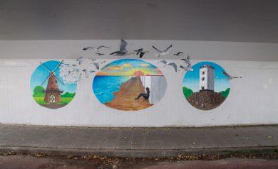 Katwijk-Noord in beeld muurschildering fietstunnel