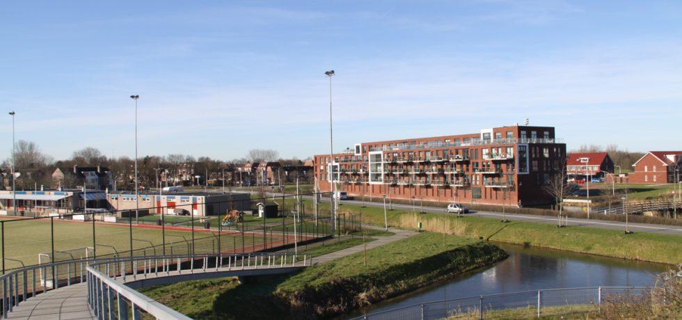 Katwijk-Noord in beeld Park Rijnsoever vanaf Olympiabrug